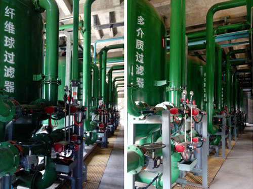 Wastewater treatment reuse and rainwater and sewage diversion project in Gaoyi, Shanxi Province.